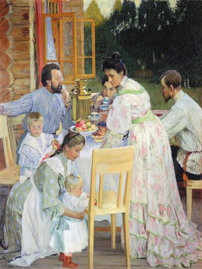 On the Terrace, 1906-B^ M^ Kustodiev-Giclee Print