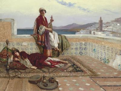 On the Terrace, Tangiers-Rudolphe Ernst-Giclee Print