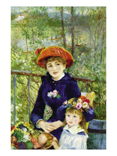 On The Terrace-Pierre-Auguste Renoir-Art Print