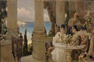 On the Terrace-Vasilii Kotarbinsky-Giclee Print