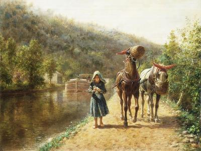 On the Towpath-Edward Lamson Henry-Giclee Print