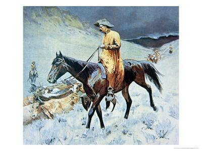 On the Trail-Frederic Sackrider Remington-Giclee Print