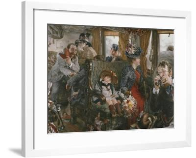 On the Train, Observed from Life, 1892-Adolf Von Menzel-Framed Giclee Print