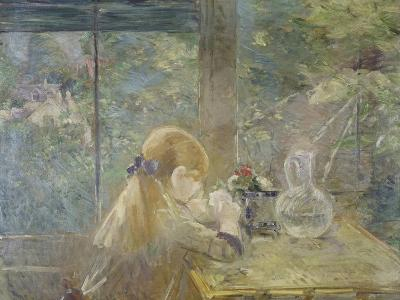 On the Veranda, 1884-Berthe Morisot-Giclee Print