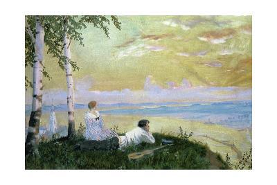 On the Volga-Boris Kustodiyev-Giclee Print