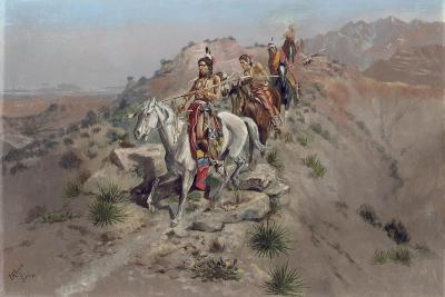 On the Warpath, 1895-Charles Marion Russell-Giclee Print