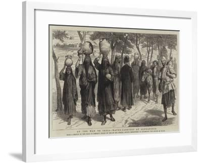 On the Way to India, Water-Carriers at Alexandria-Godefroy Durand-Framed Giclee Print