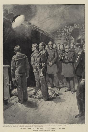 On the Way to the Front, a Funeral at Sea-William T^ Maud-Giclee Print