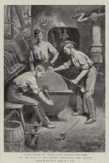 On the Way to the Front, Preparing for Action-William T^ Maud-Giclee Print