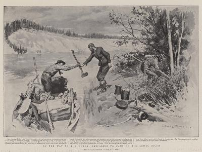 On the Way to the Yukon, Preparing to Camp on the Lewes River-Charles Edwin Fripp-Giclee Print