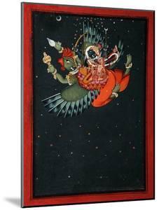 On the Wings of Garuda: Krishna and Satyabhama Fly Through the Night Sky, C.1750