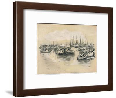 'On the Yellow River', 1903-Mortimer L Menpes-Framed Giclee Print