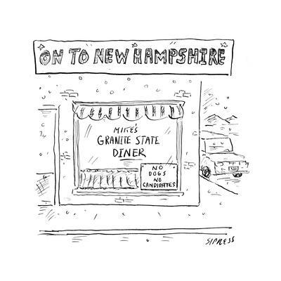 On to New Hampshire - Cartoon-David Sipress-Premium Giclee Print