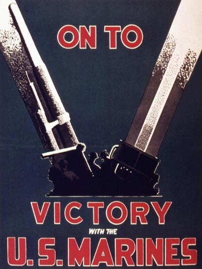 On to Victory with the Us Marines, 1944--Giclee Print
