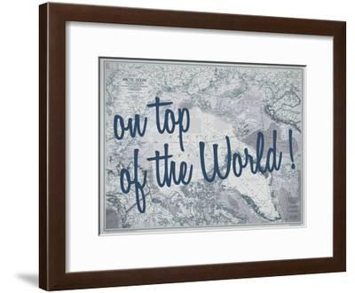 On Top of the World - 1983 Arctic Ocean Map-National Geographic Maps-Framed Giclee Print