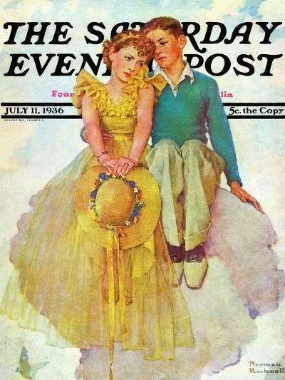 """On Top of the World"" Saturday Evening Post Cover, July 11,1936-Norman Rockwell-Giclee Print"