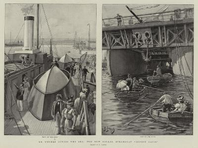 On Wheels across the Sea, the New Roller Steamboat Ernest Bazin-Henri Lanos-Giclee Print
