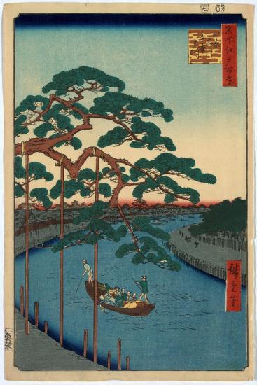 Onagigawa Gohonmatsu-Utagawa Hiroshige-Giclee Print