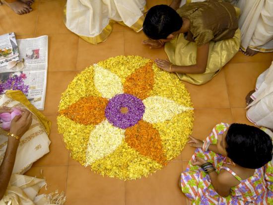 Onam Celebrations, Kerala, India-Balan Madhavan-Photographic Print