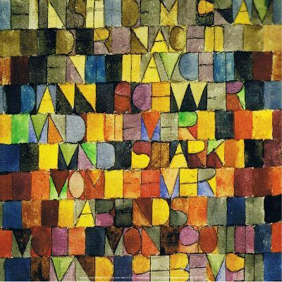 Once Emerged from the Gray of the Night, 1918-Paul Klee-Art Print