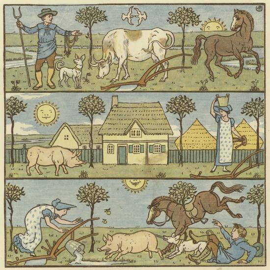 Once There Lived a Little Man-Walter Crane-Giclee Print
