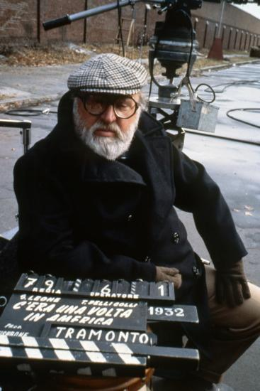 Once Upon a Time in America 1984 Directed by Sergio Leone on the Set, the Director Sergio Leone.--Photo