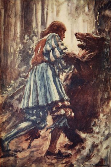 Once When Attacked by a She-Bear He Choked Her with His Bare Hands-Arthur C. Michael-Giclee Print