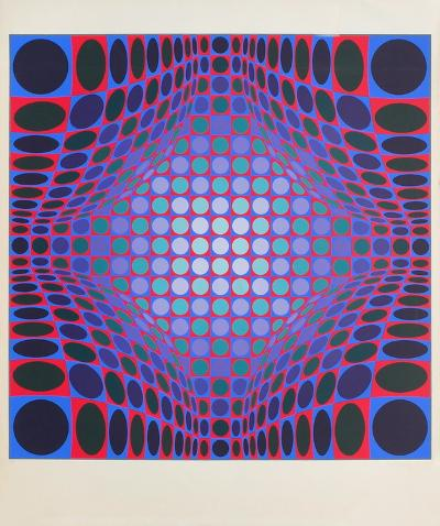Ond-Fire-Victor Vasarely-Limited Edition
