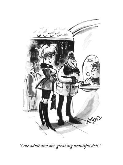 """One adult and one great big beautiful doll."" - New Yorker Cartoon-Lee Lorenz-Premium Giclee Print"