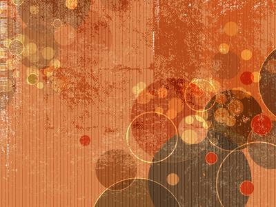 Abstract Grunge Background with Circles and Dots