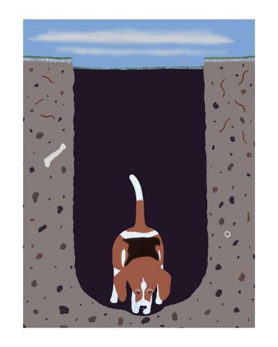 One Beagle - 1 Afternoon-Ken Bailey-Collectable Print