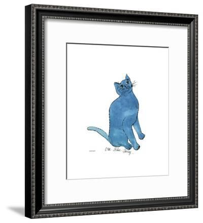 One Blue Pussy, c.1954-Andy Warhol-Framed Giclee Print
