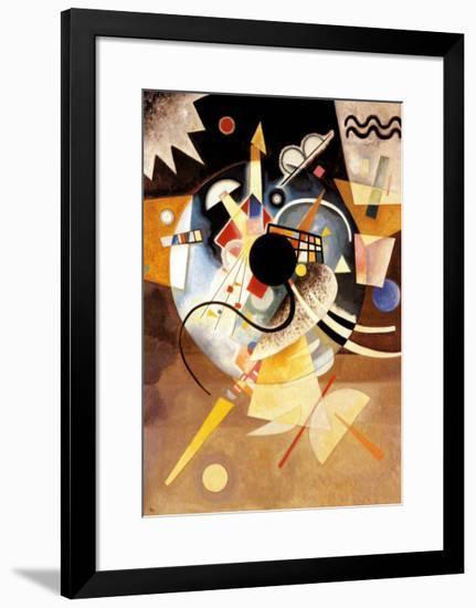 One Center-Wassily Kandinsky-Framed Art Print