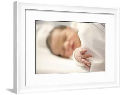 One Day Old Baby Girl Sleeping-Cristina-Framed Photographic Print