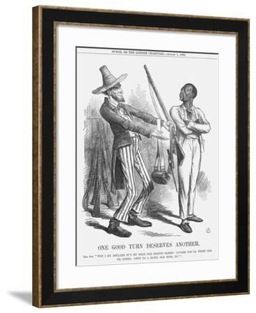 One Good Turn Deserves Another, 1862-John Tenniel-Framed Giclee Print