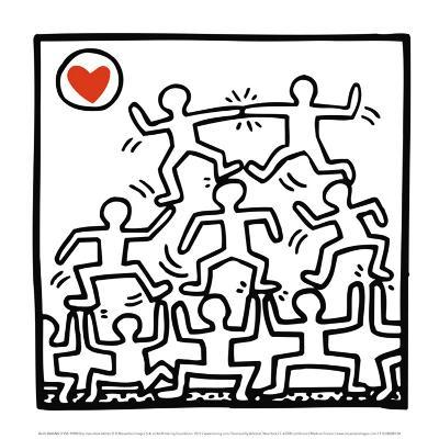 One Man Show (details)-Keith Haring-Art Print