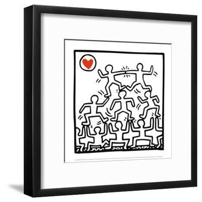 One Man Show (details)-Keith Haring-Framed Art Print