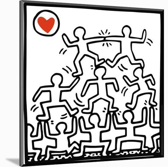 One Man Show (details)-Keith Haring-Mounted Art Print