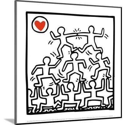 One Man Show (details)-Keith Haring-Mounted Print