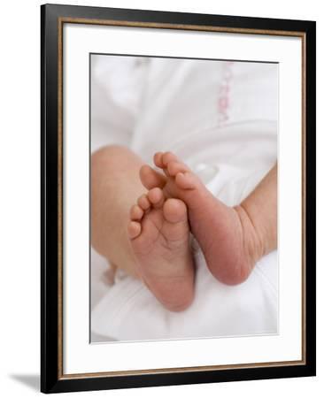 One Month Old Newborn Baby Girl-Amanda Hall-Framed Photographic Print