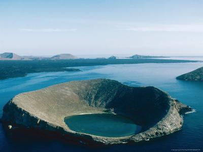 One of Bainbridge Rocks and Santiago Island, Galapagos Islands-Mary Plage-Photographic Print