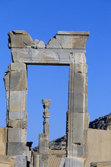 One of Doors to Throne Room or Room of Hundred Columns, Persepolis--Photographic Print