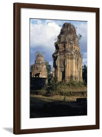 One of Eight Towers of Temple of Bakong--Framed Giclee Print