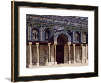 One of Four Entrances to Dome of Rock or Mosque of Omar, Jerusalem's Old City--Framed Photographic Print