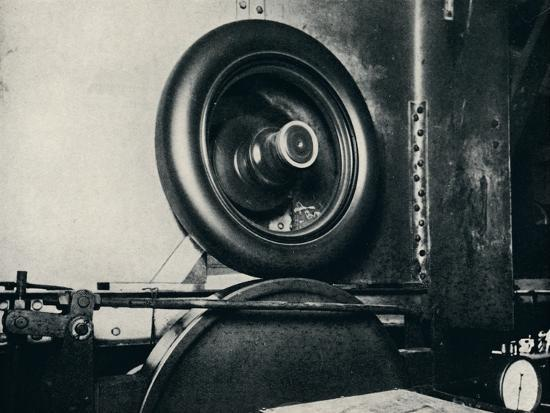 'One of Sir Malcolm Campbell's tyres running at 300 m.p.h.', 1937-Unknown-Photographic Print