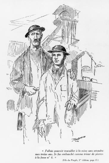 One of the 15 Drawings of the First Edition of 'Fils Du Peuple'--Giclee Print