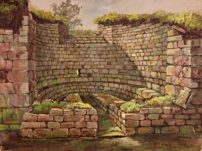 One of the Buildings in the Excavations Near the River-Charles Richardson-Giclee Print