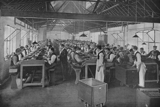One of the cigar manufacturing departments at Salmon and Gluckstein, Ltd, London, c1870s-Unknown-Photographic Print