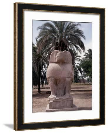 One of the Colossal Statues of the God Thoth, in His Baboon Aspect, at Hermopolis Magna--Framed Giclee Print
