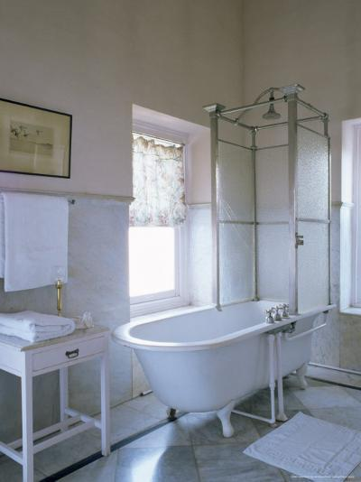 One of the Original Bathrooms from the 1930s and 1940s, Udai Bilas Palace-John Henry Claude Wilson-Photographic Print